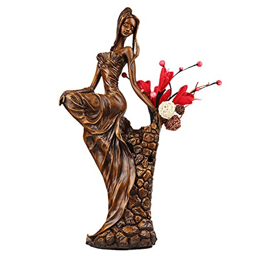 LISAQ Composizione Floreale Bellezza Statua Scultura Casa Decorazione in Resina Soggiorno Ufficio Regalo Creativo Office