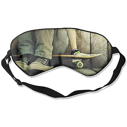 Slaap oogmasker skate jeans schoenen skateboards zachte oogstrip verstelbare hoofdband eyeshade Travel Eyepatch
