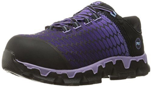 Timberland PRO Women's Powertrain Sport Alloy Toe SD+ Industrial & Construction Shoe, Black Synthetic/Lavender, 8 W US