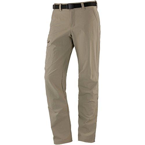 Maier Sports Nil Pantalon de randonnée Roll up 90% PA 10% EL avec Ceinture, bi-élastique, séchage Rapide et imperméable, Homme, Nil, Kaki