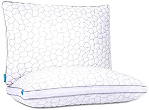 Cooling Pillows for Sleeping 2 Pack Shredded Memory Foam Bamboo Pillow with Adjustable Loft Hypoallergenic Sleeping Pillow...