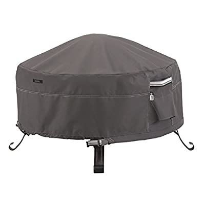 Classic Accessories Ravenna Round Fire Pit/Table Cover
