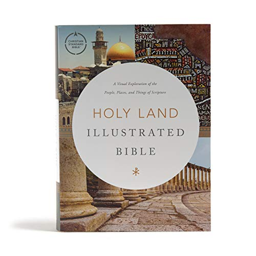 CSB Holy Land Illustrated Bible, Hardcover, Black Letter, Full-Color Design, Articles, Photos, Illustrations, Two Ribbon Markers, Sewn Binding, Easy-to-Read Bible Serif Type
