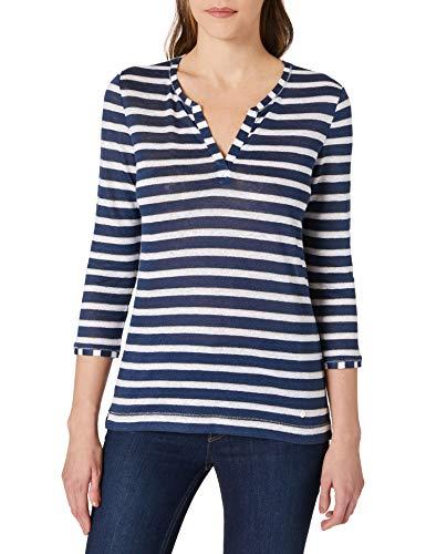 BRAX Damen Style Claire Tunika-Shirt, Indigo, 34
