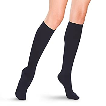 Therafirm Women s Trouser Socks with Mild  15-20mmHg  Compression - X-Large - Navy
