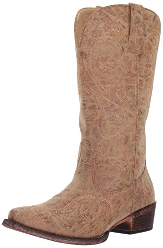 Roper womens Riley Western Boot, Tan, 8.5 US