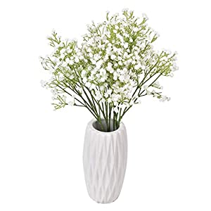 JRAISE 12 Pcs Babys Breath Artificial Flowers, Gypsophila Real Touch Flowers for Wedding Party Home Garden Decoration