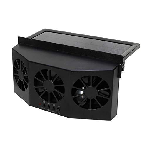 Aemiy, climatizzatore portatile per auto, silenzioso, ventola di raffreddamento a energia solare, per auto e camion, a risparmio energetico
