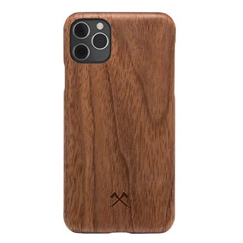 Woodcessories - Handyhülle kompatibel mit iPhone 11 Pro Max Hülle Holz, Echtholz - EcoSlim Case (Walnuss)
