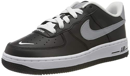 Nike Jungen AIR Force 1 LV8 GS Basketballschuh, Black Wolf Grey White, 38 EU