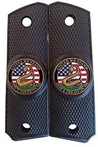 Garrison Grip 1911 Colt Full Size and Clones (Grips ONLY) with United WE Stand Medallion Set