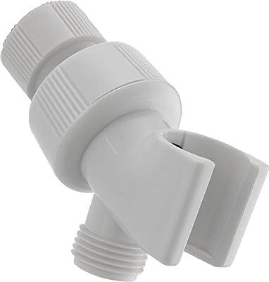 DELTA U3401-WH-PK Adjustable Shower Arm Mount, White