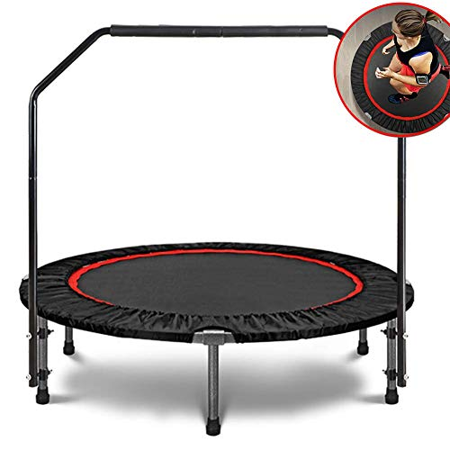 POETRY Kindertrampolin Indoor-Trampolin mit Klappgriff Home Gym Elastisches Seil Silent Safety Jumper Bounce Cardio Workout Garten-Übungs-Trampolin