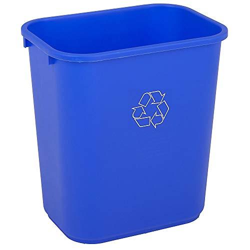 Highmark Office Depot Recycling Bin, 7 Gallons, Blue, WB0188