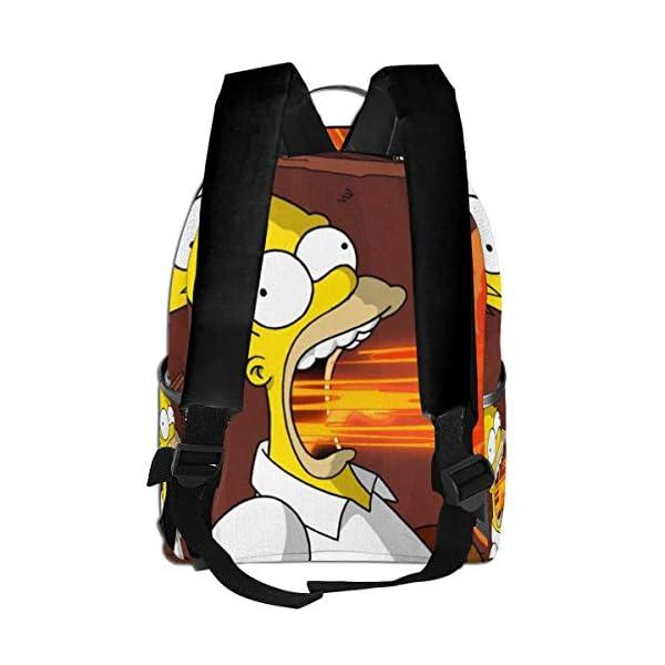 41FYvxtSmhL. SS600  - The Simpsons - Mochila para Estudiantes, Unisex, diseño de Dibujos Animados, 14,5 x 30,5 x 12,7 cm