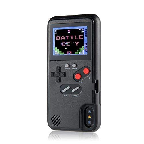 Funda de consola de juegos portátil para iPhone 11, funda retro Gameboy para iPhone 11, funda de juego 3D para iPhone 11 (negro, para iPhone 6/6s/7/8)