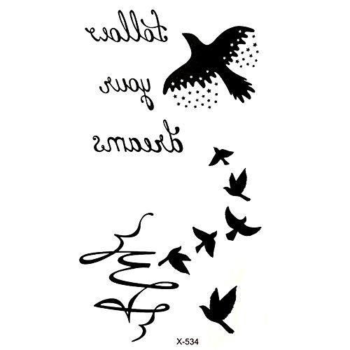 20 pcs Oies Étanche Temporaire Tatouages hommes Oiseau flash tatouage harajuku tatoo tatouage au body art autocollant Pesca tatoo autocollants