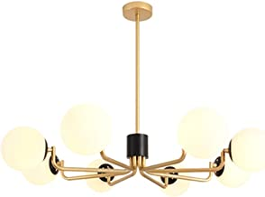 Nordic Chandelier Personality Modern Minimalist Atmosphere Living Room Bedroom Chandelier (Color : Copper)