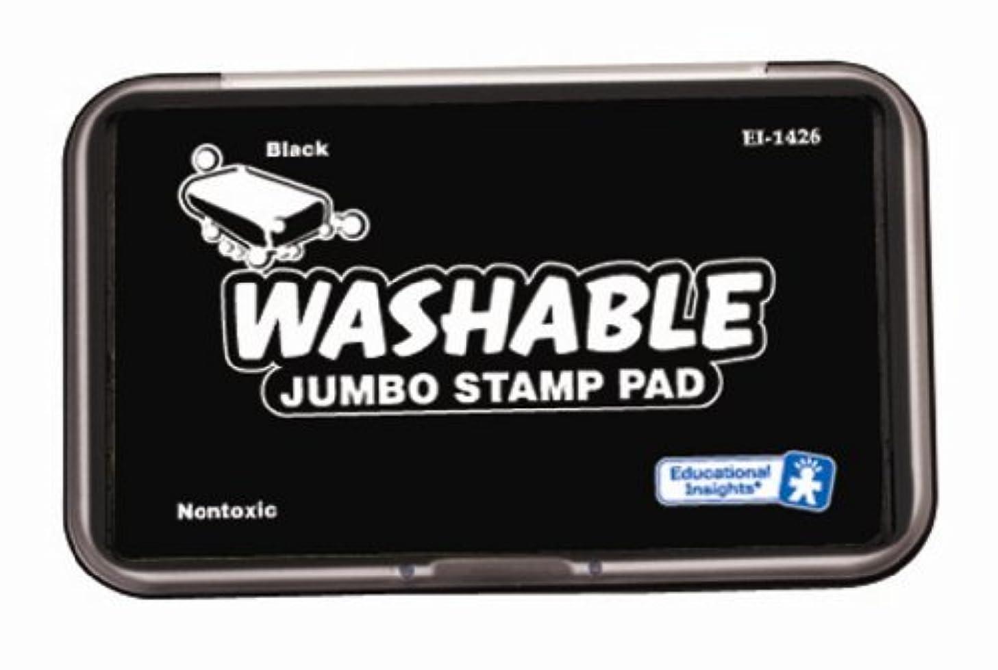 2 X Educational Insights Jumbo Washable Stamp Pad Black