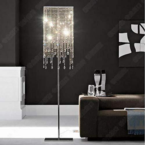 WONS Soggiorno, hotel, camera da letto, lampada da terra -Fafz Lampada da terra in cristallo di lusso europea Camera da letto Semplice e moderno Sogg