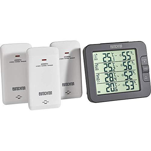 Eurochron EFTH-800 Funk-Thermo-/Hygrometer Schwarz