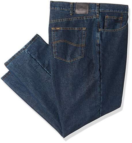 Lee Herren Big-Tall Fleece Lined Relaxed Fit Straight Leg Jeans, Black Quartz, 46W / 28L