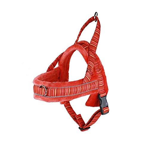 MNC Pet S4 - Arnés de Forro Polar, Talla 40, Color Rojo