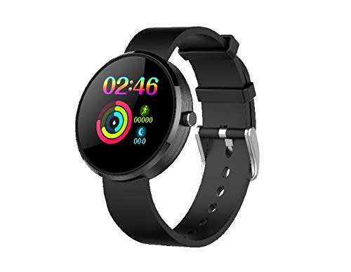 LEMONDA - Reloj inteligente para mujer y hombre, pulsera Smart Watch Sport Cardio impermeable IP68 para Android iOS iPhone Samsung Xiaomi Huawei (negro)