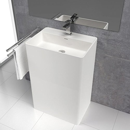 Sanycces Lavabo colonne in Superficie Minerale Solid Surface Corian® CABANES 60 cm