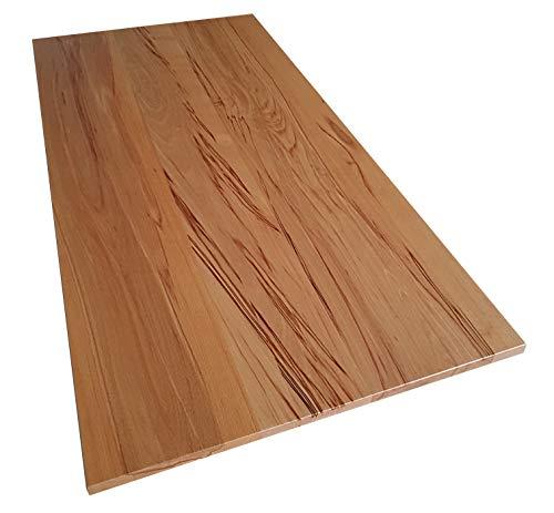 Tischplatte Holz massiv Kernbuche 25mm geölt oder unbehandelt, Esstisch Couchtisch (Holz unbehandelt, 80 x 60)
