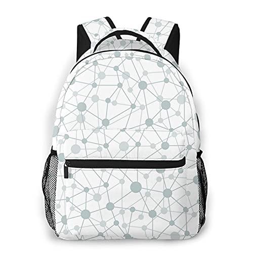 BYTKMFD Mochila de red sin costuras para libros escolares, bolsa de transporte ligera de viaje, Negro, Talla única