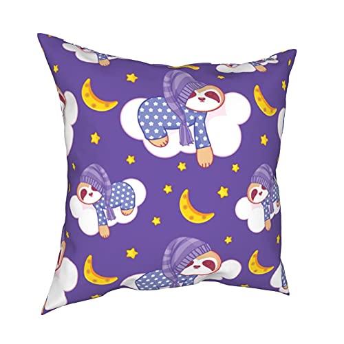 Throw Pillowcase Kissenbezüge 45x45CM Cute Lazy Sloth Dekoration für Home Decor Office Sofa Holiday Bar Kaffee Hochzeit Auto