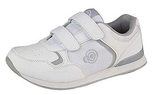 Dek - Zapatos de Bolos para Hombre Blanco Blanco