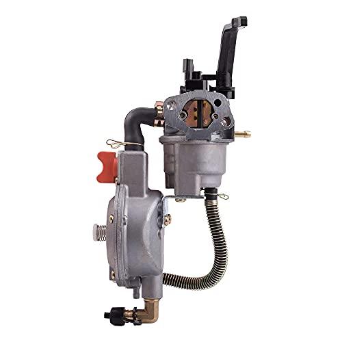 CareMont Carburador LPG Generador Kit de ConversióN de Combustible Dual LPG NG para 2KW 3KW 168F 170F 6.5HP Piezas de Generador EléCtrico