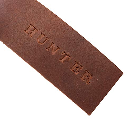 Personalized Leather Bookmark Embossed with Name