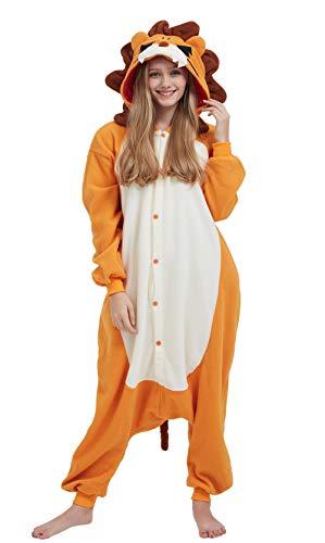 DELEY Unisexo Adulto Caliente Animal Pijamas Cosplay Disfraz Homewear Mamelucos Ropa De Dormir Leones M
