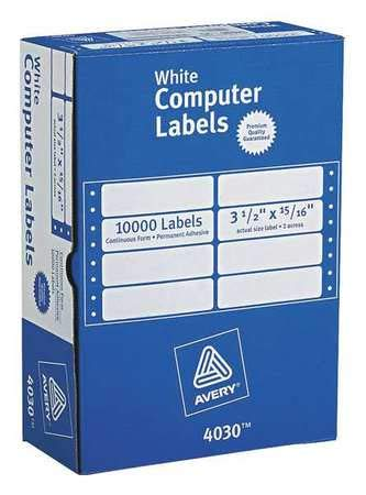 Avery?« Continuous Form Computer Labels for Pin-Fed Printers 4030, 3-1/2