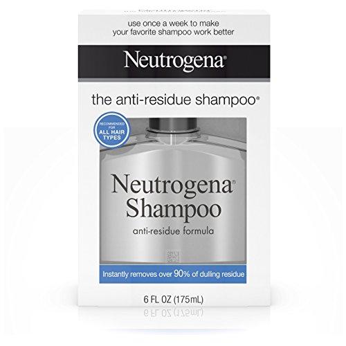 Neutrogena Anti-Residue Shampoo, Gentle Non-Irritating Clarifying Shampoo to Remove Hair Build-Up & Residue, 6 fl. oz ( Pack of 5)