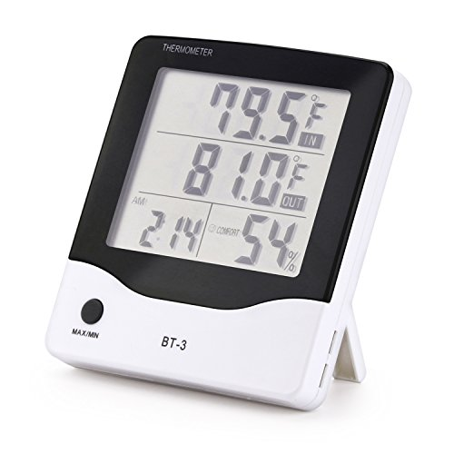Digital thermometer indoor hygrometer Fahrenheit Celsius switching temperature humidity monitor for home kitchen restaurants bars