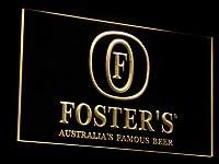 Fosters Beer Bar Pub Displays LED看板 ネオンサイン ライト 電飾 広告用標識 W40cm x H30cm イエロー