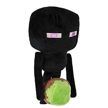 JINX Minecraft Happy Explorer Enderman Plush Stuffed Toy Black 7  Tall