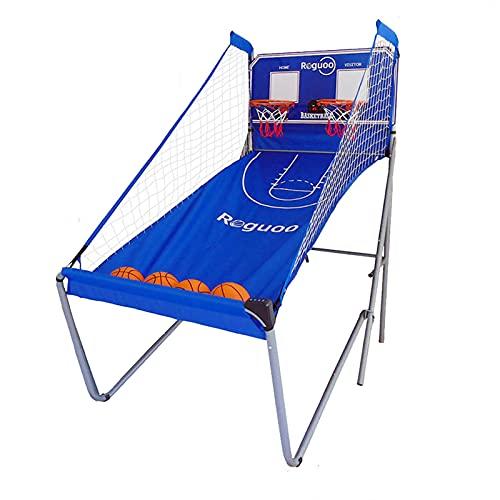 ZXQZ Máquina Tiro Baloncesto Plegable para Interiores, Juegos Arcade Electrónicos con 5 Bolas, Fácil Plegar, para Niños, Adolescentes Y Adultos (Color : Style2)