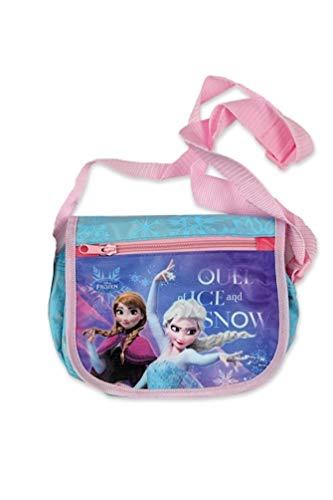 Frozen - Die Eiskönigin Anna und ELSA Kinder Umhängetasche Schulter-Tasche, Farbe:Türkis