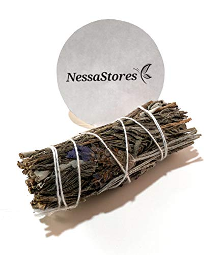 NessaStores - Lavender + California White Sage Smudge Incense 4' Bundle #JC-165 (6 pcs)