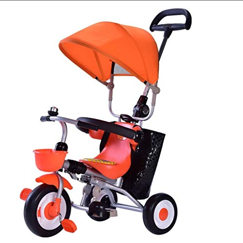 MAGO Tricycle Baby-Kind-Trike Dreirad Kleinkind Leicht faltbare 3 Wheeler Kinderwagen Kinder mit großen Vordach for 1-3 Jahre alt (Color : B)