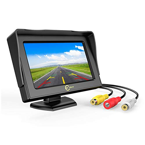 Backup Camera Monitor, 4.3 Inch TFT LCD Color Display Rear View Camera Monitor with High Resolution, Esky 180° Adjustable Monitor Screen for Vehicle Backup Parking, Car, Truck Pickup, Tractor Cameras