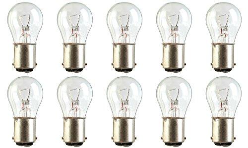 CEC Industries #7512 Bulbs, 24 V, 21 W, BA15d Base, S-8 shape (Box of 10)