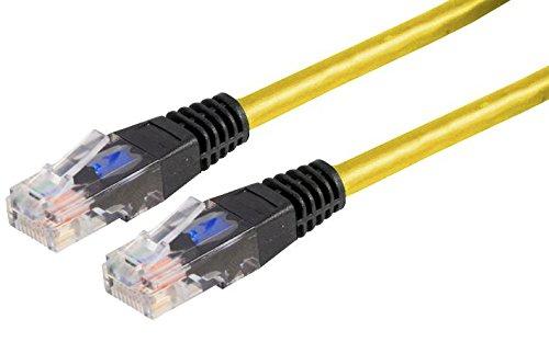 Kabel CAT 5E Crosover 0,5 m Gelb/Kabel CAT 5E Crosover 0,5 m Kabellänge – Imperial 1,64 ft Kabellänge //PSG90757 (1 Stück)