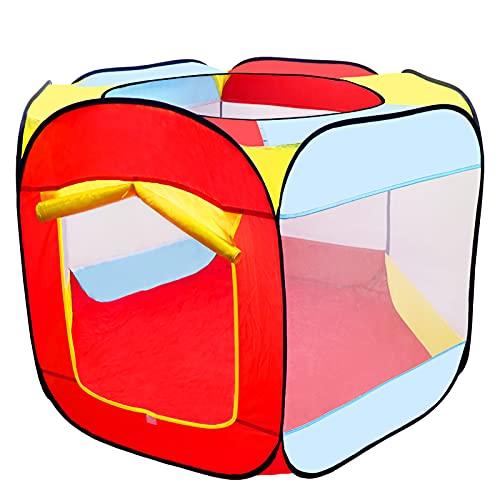 MAIKEHIGH Tente de Jeu de Balle pour Enfants, Pop Up Tente de Jeu pour Bébé Pliante Tente de Jardin Portable Hexagone Piscine Gonflable pour Enfants Intérieur / Extérieur(Pas de Balles)