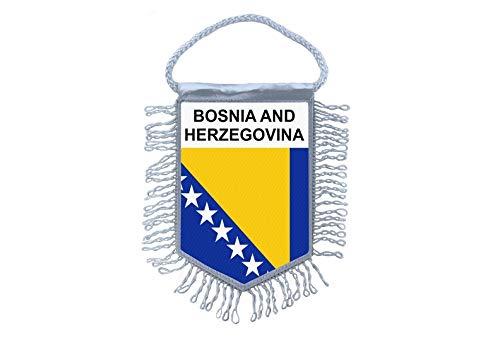 Akachafactory Wimpel Mini Flagge Fahne flaggen Bosnien und Herzegowina